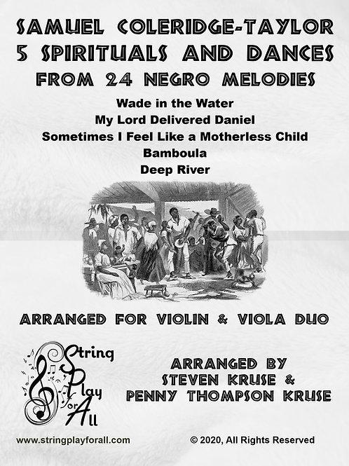 Five Spirituals and Dances for Violin & Viola by Samuel Coleridge Taylor