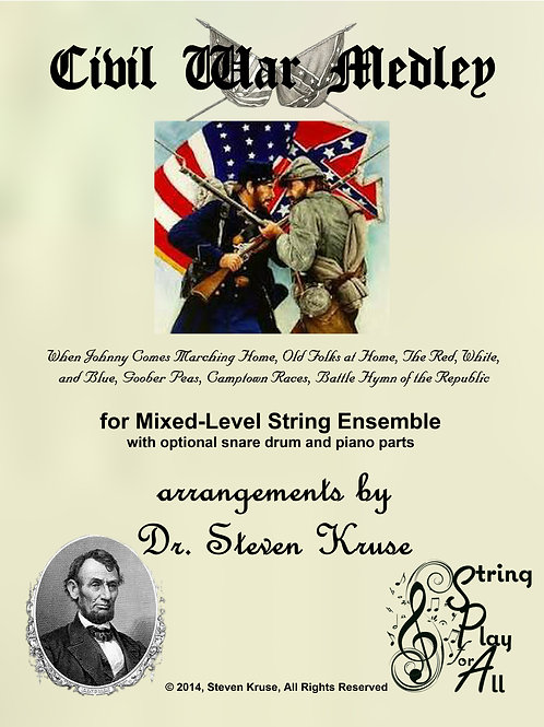 Civil War Medley for Mixed-Level String Ensemble, with snare