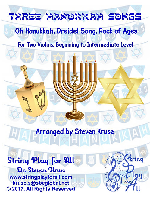 Three Hanukkah Songs, for Two Violins
