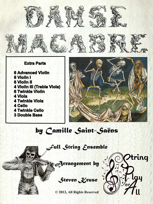 Extra Parts for Danse Macabre for Mixed-Level String Ensemble