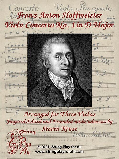 Hoffmeister: Viola Concerto in D Major, arranged for Three Violas