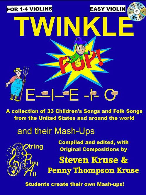 Twinkle Pop E-I-E-I-O, 170-page spiral-bound book, with CD