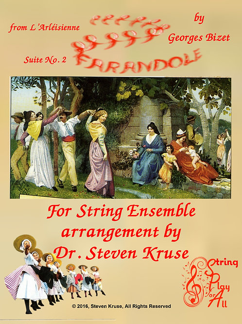 Bizet's Farandole for Multi-Level String Orchestra