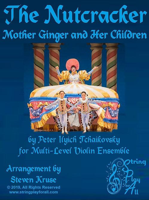 """Mother Ginger and Her Children from """"Nutcracker"""" for Multi-Level Violin Ensemble"""