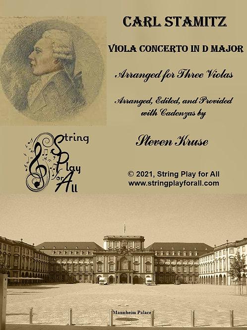 Stamitz: Viola Concerto in D Major, arranged for Three Volas