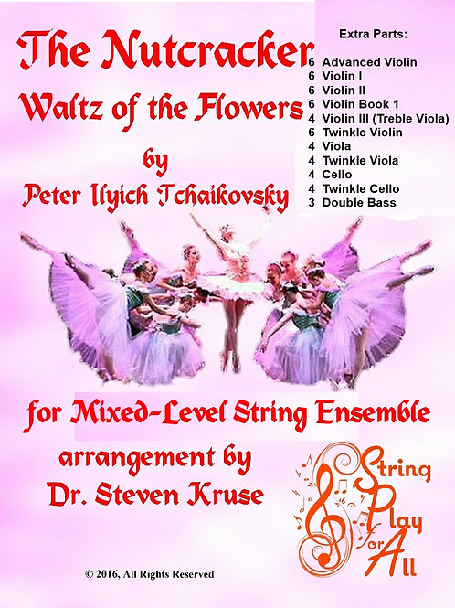 Extra Parts for Waltz of the Flowers for Mixed-Level String Ensemble