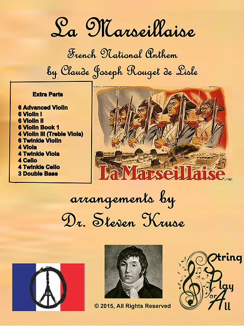 La Marseillaise (French National Anthem), Extra Parts
