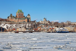 An icy St. Lawrence River
