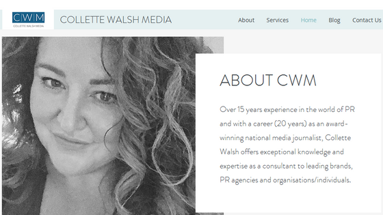 Collette Walsh - PR & Media consultant: website updated