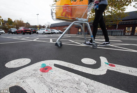 Campaign spotlight: poppies sprayed on parking bays - Poppy Appeal