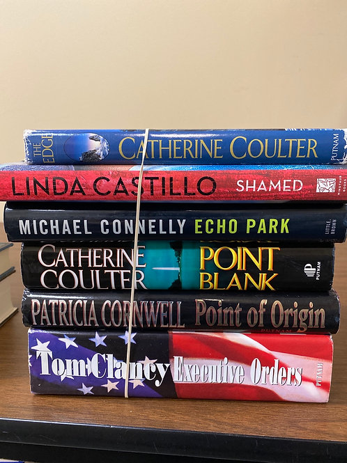 Fiction - Coulter, Castillo, Connelly, Cornwell, Clancy
