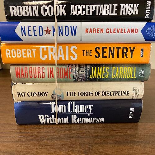 Fiction - Cook, Cleveland, Crais, Carroll, Conroy, Clancy