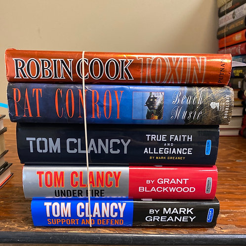 Fiction - Tom Clancy, Robin Cook, & Pat Conroy