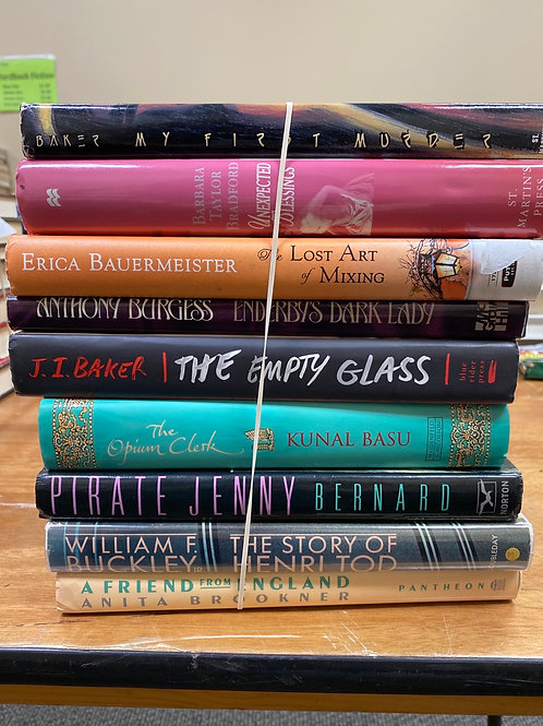 Fiction - Baker, Bauermeister, Burgess, Basu, Bernard, Buckley, Brookner
