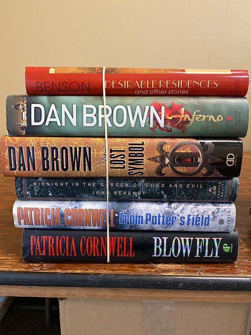 Fiction - Dan Brown, Patricia Cornwell, John Berendt, & E.F. Benson
