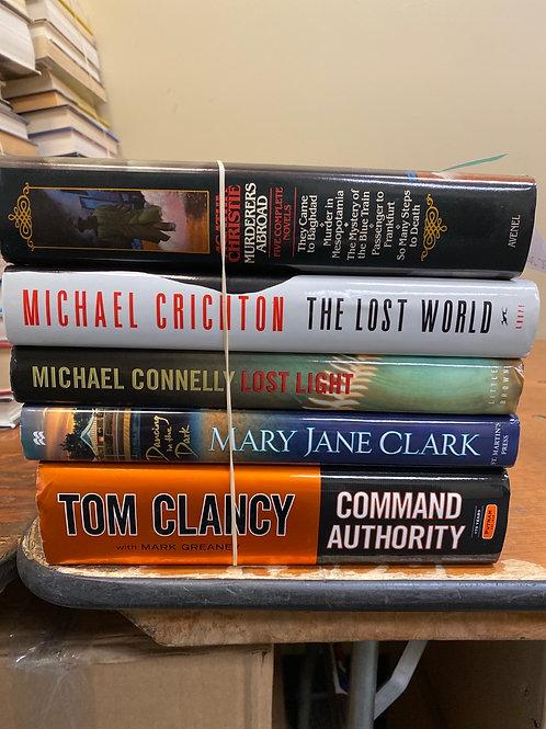 Fiction - Christie, Connelly, Crichton, Clark, Clancy