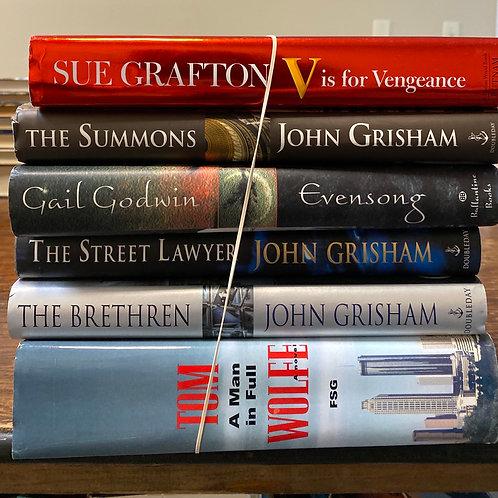 Fiction - Grafton, Grisham, Godwin, Wolfe