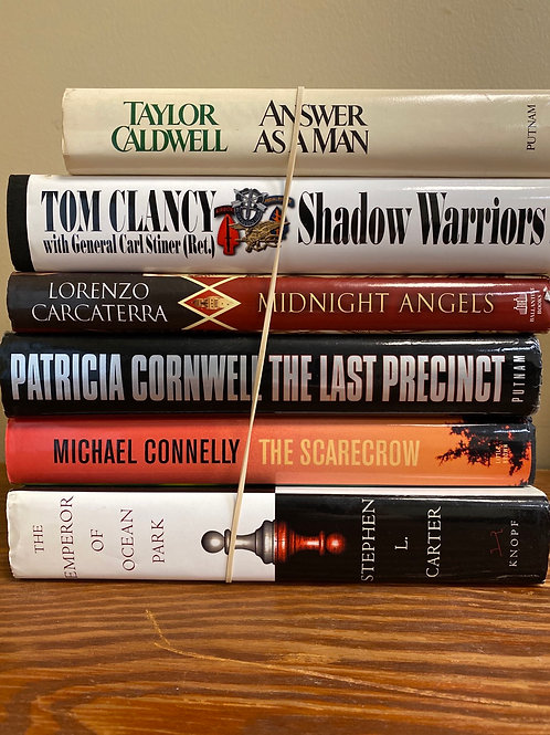 Fiction - Caldwell, Cornwell, Connelly, Carcaterra, Clancy, Carter