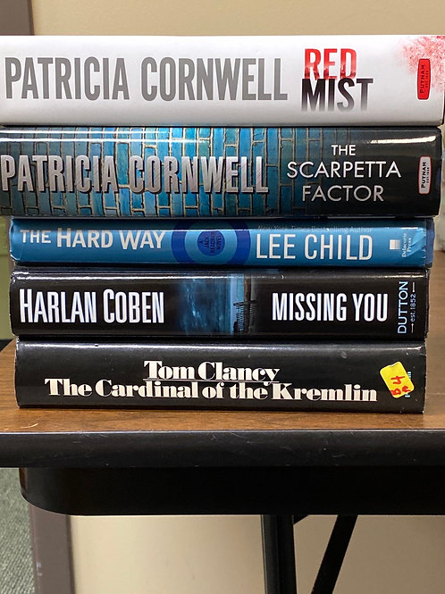 Fiction - Cornwell, Child, Coben, Clancy