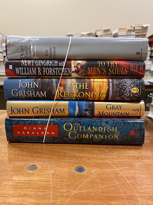 Fiction - Gabaldon, Grisham, Gingrich, Gardner