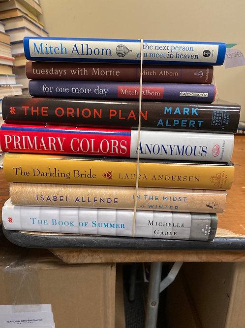 Fiction - Albom, Alpert, Anderson, Allende, Gable