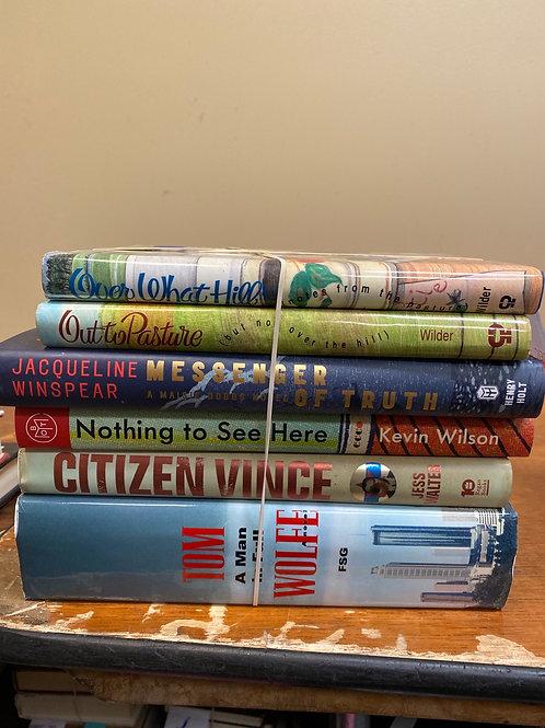Fiction - Wilder, Winspear, Wilson, Wolfe, Walter