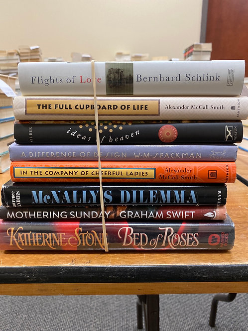 Fiction - Schlick, McCall Smith, Swift, Stone, Silber, Spackman