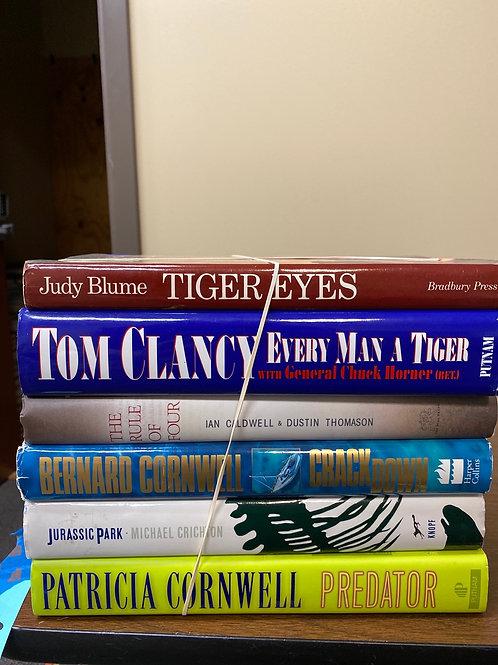 Fiction - Caldwell, Clancy, Crichton, Cornwell, Blume