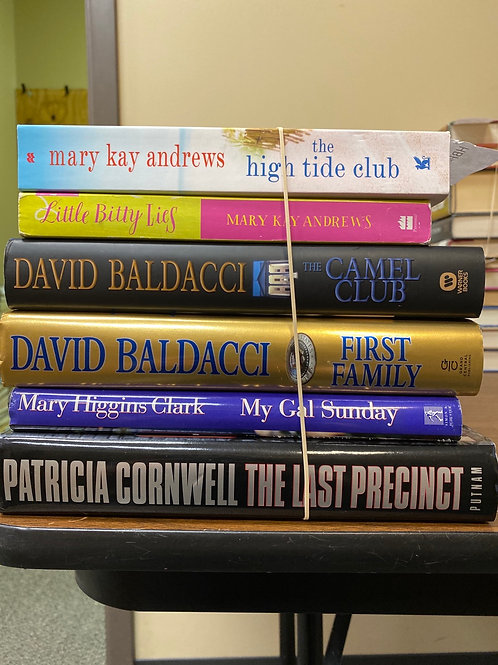Fiction - Andrews, Baldacci, Cornwell, Higgins Clark