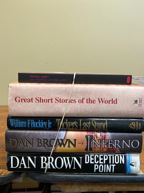 Fiction - Dan Brown, Buckley Jr., Short Story Collections