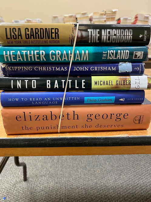 Fiction - Gardner, Gilbert, George, Graham, Grisham