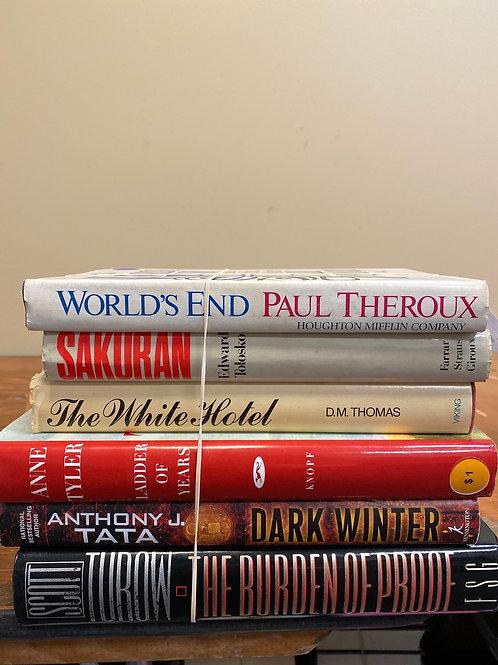 Fiction - Theroux, Thomas, Tata, Turow, Tolosko
