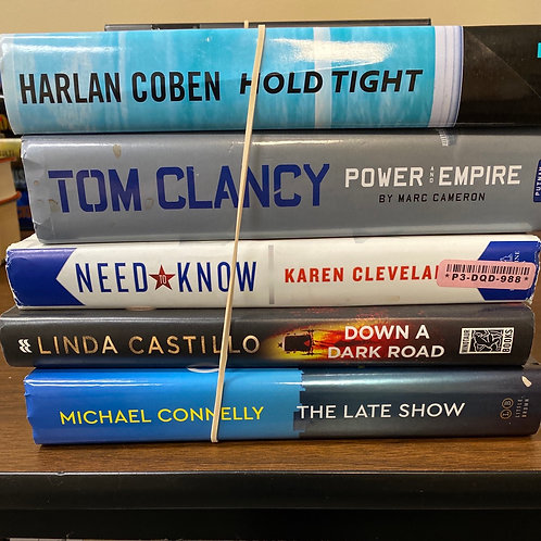 Fiction - Clancy, Coben, Cleveland, Castillo, Connelly