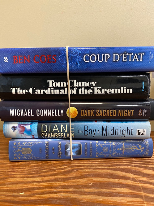 Fiction - Clancy, Coes, Connelly, Chamberlain, Barrett