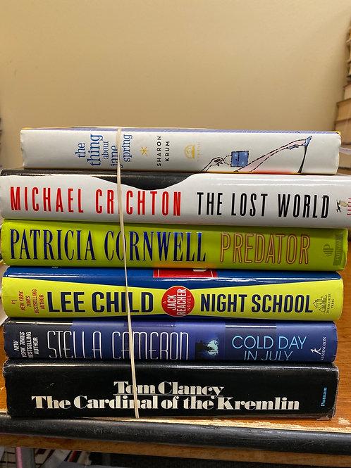 Fiction - Clancy, Cameron, Child, Cornwell, Crichton, Krum