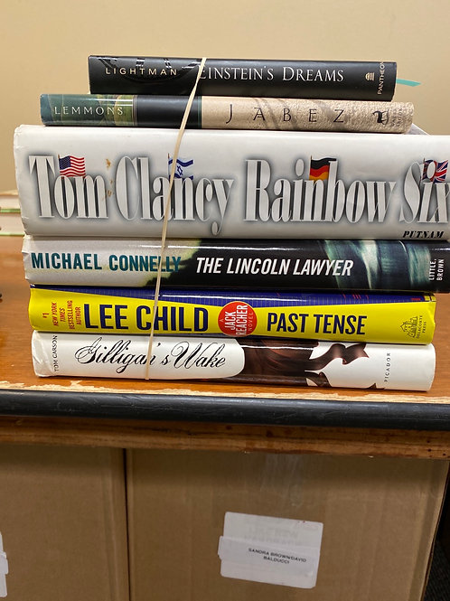 Fiction - Lightman, Lemmons, Clancy, Connelly, Child, Carson