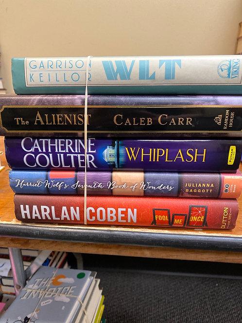 Fiction - Coben, Baggott, Coulter, Carr, Keillor