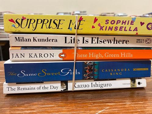 Kinsella, Kundera, Karin, King, Ishiguro