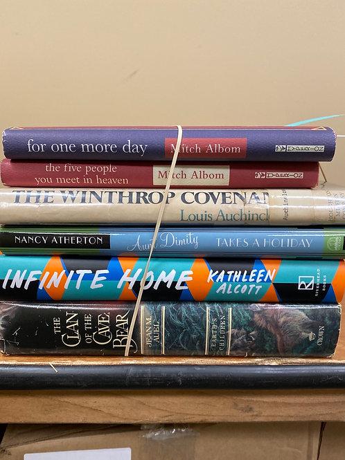 Fiction - Albom, Alcott, Atherton, Auel, Auchincloss