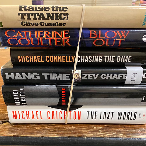 Fiction - Cussler, Connelly, Crichton, Coulter, Chafets