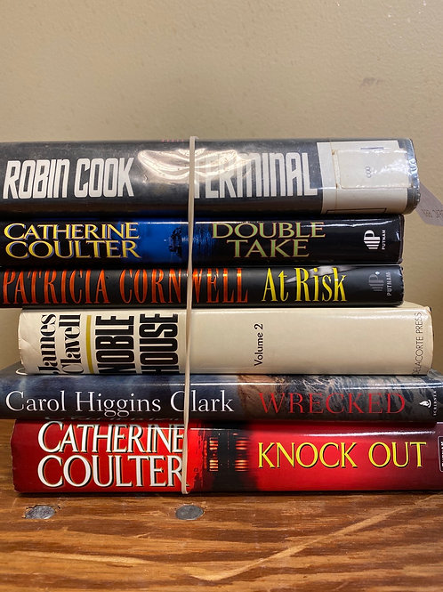 Fiction - Cornwell, Carol Higgins Clark, Coulter, Clavell, Cook