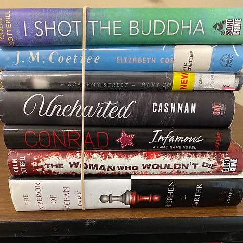 Fiction - Cotterill, Coetzee, Cashman, Conrad, Cotterill, Carter