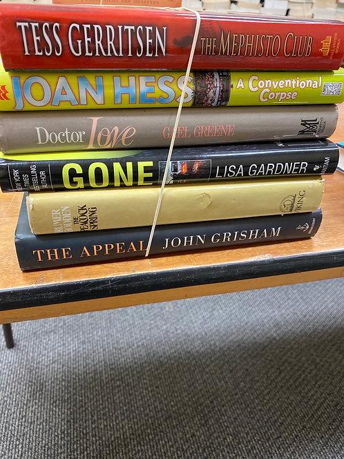 Fiction - Gerritsen, Gardner, Grisham, Greene, Hess, Godden