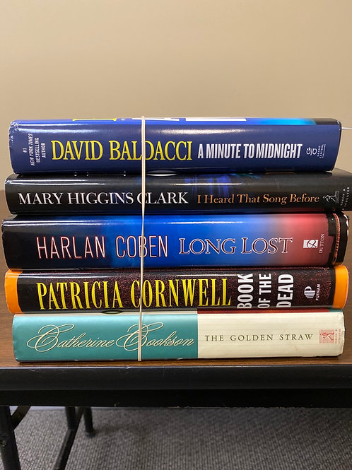 Fiction - Baldacci, Higgins Clark, Coben, Cornwell, Cookson
