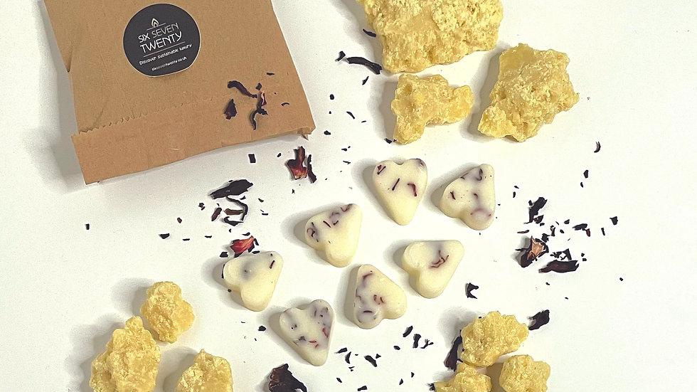 Rich Cocoa Butter Botanical Wax Melts | Heart design 7 pack