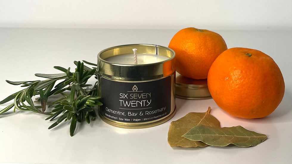Clementine, Bay & Rosemary 100ml Soy Candle