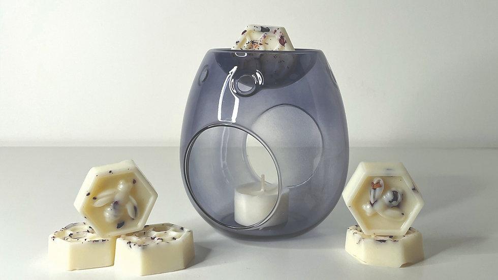 Grey Smoked Glass Wax Melt Burner