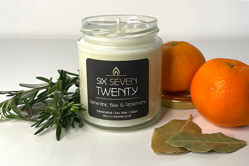 Clementine, Bay & Rosemary 190ml Soy Candle