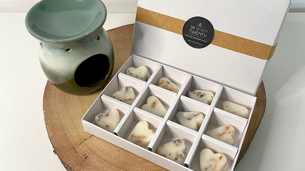 Wax Melt Gift Box & Ceramic Burner