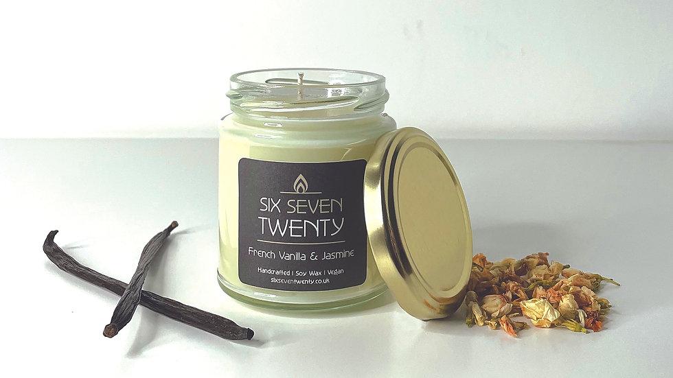 French Vanilla & Jasmine 190ml Soy Candle